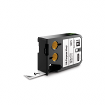 Flerfunktionsvinyl Dymo XTL 19 mm svart/vit