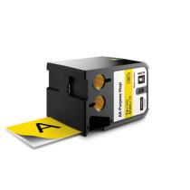 Flerfunktionsvinyl Dymo XTL 54 mm svart/gul