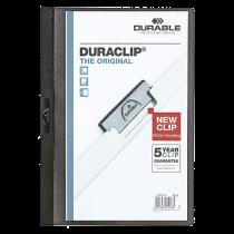 Klämmapp Duraclip A4 30 ark svart