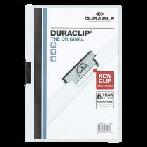 Klämmapp Duraclip A4 30 ark vit