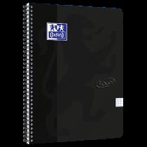 Anteckningsbok Oxford Touch A4+ rutat svart
