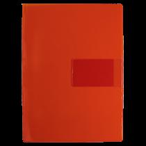 Aktmapp med visitkortsficka röd