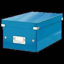 Förvaringslåda Click & Store DVD blå
