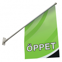 Fasadflagga Öppet