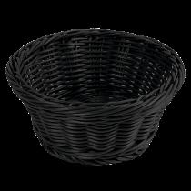 Brödkorg rund 18,5 cm svart