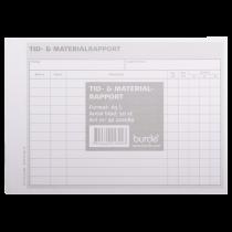 Tid- och materialrapport