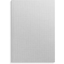 Anteckningsbok Burde grå linnetextil linjerad A5