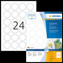 Avtagbara etiketter Herma Ø 40 mm 2400/fp